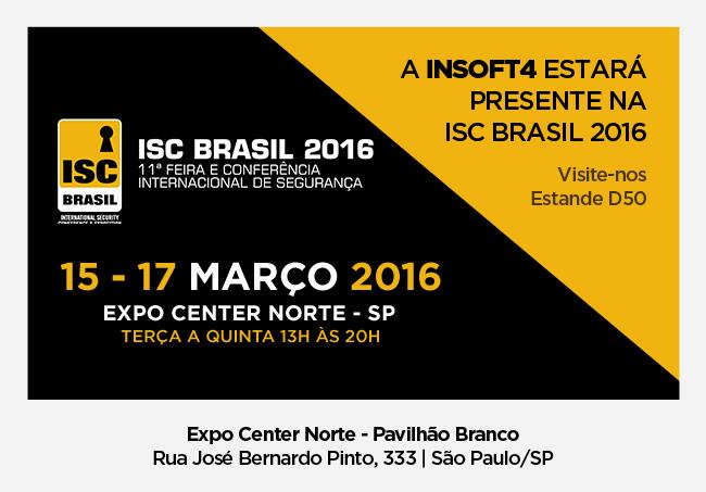 Insoft4 presente na feira ISC Brasil 2016